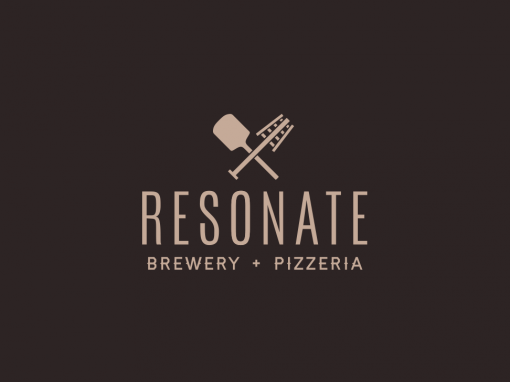 Resonate craft brewery and pizza identity