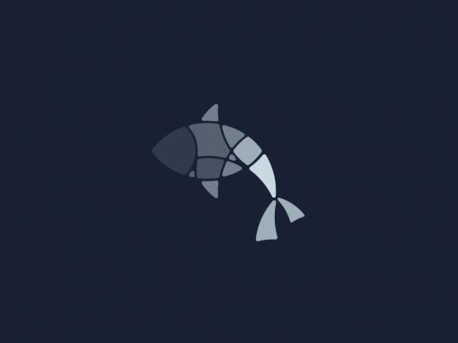 Fish mosaic illustrations